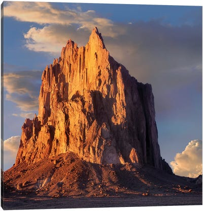 Shiprock, The Basalt Core Of An Extinct Volcano, New Mexico VI Canvas Art Print
