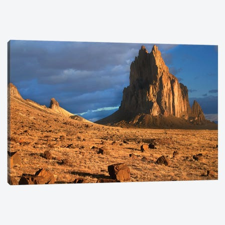 Shiprock, The Basalt Core Of An Extinct Volcano, Tuff-Breccia Ejected Boulders In Foreground, New Mexico II Canvas Print #TFI999} by Tim Fitzharris Canvas Art