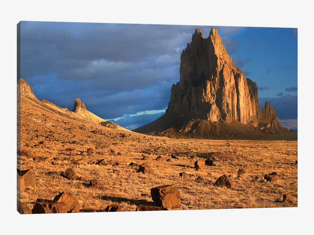 Shiprock, The Basalt Core Of An Extinct Volcano, Tuff-Breccia Ejected Boulders In Foreground, New Mexico II by Tim Fitzharris 1-piece Canvas Wall Art
