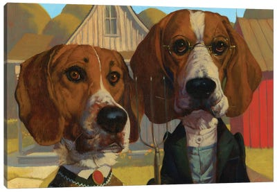 American Gothic Canvas Art Print