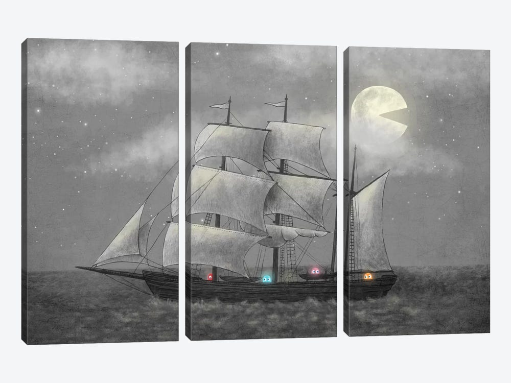 Ghost Ship by Terry Fan 3-piece Canvas Print