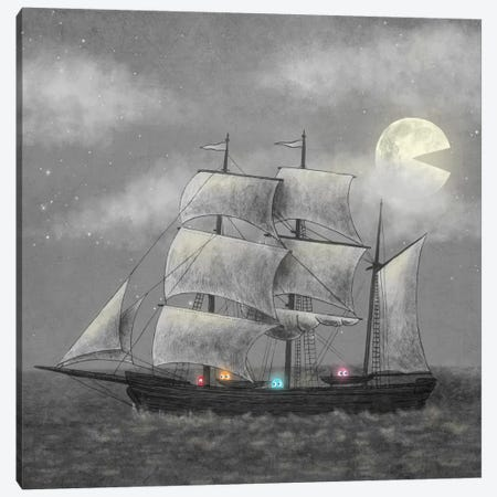 Ghost Ship Square Canvas Print #TFN101} by Terry Fan Canvas Artwork