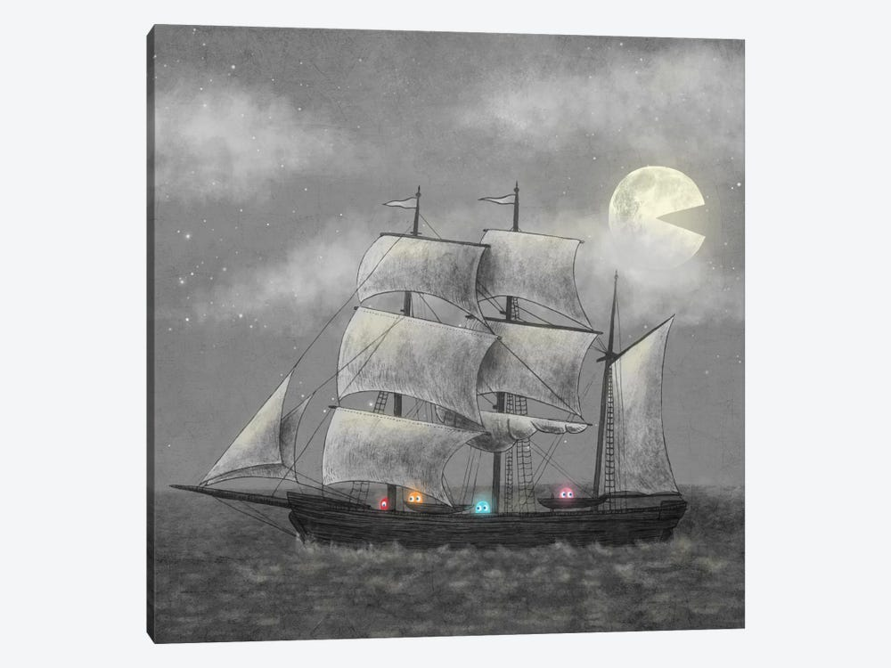 Ghost Ship Square by Terry Fan 1-piece Canvas Artwork