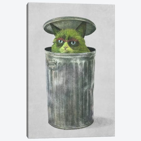Grouchy Cat Canvas Print #TFN104} by Terry Fan Art Print