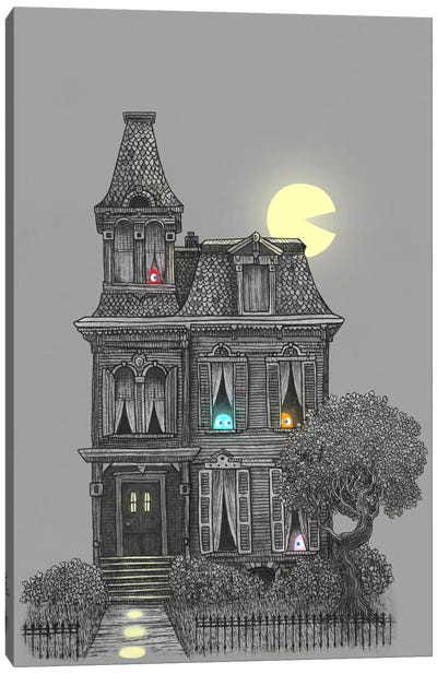 Haunted By The 80's Canvas Art Print
