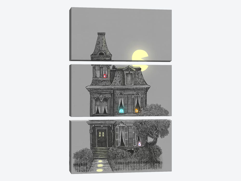 Haunted By The 80's by Terry Fan 3-piece Canvas Print