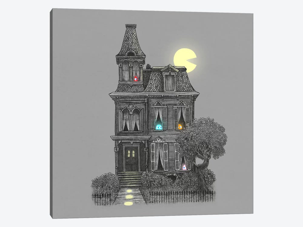 Haunted By The 80's Square by Terry Fan 1-piece Canvas Art