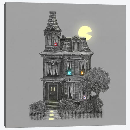 Haunted By The 80's Square Canvas Print #TFN107} by Terry Fan Canvas Art Print