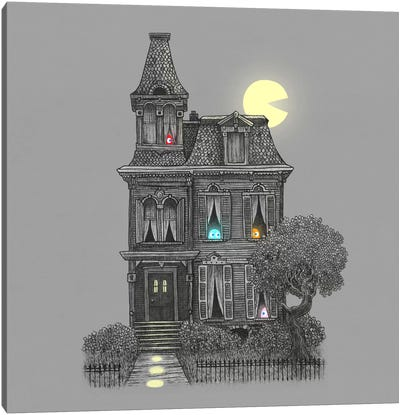 Haunted By The 80's Square Canvas Art Print