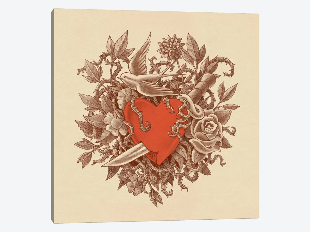 Heart Of Thorns by Terry Fan 1-piece Art Print