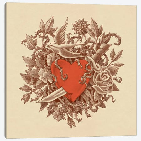 Heart Of Thorns Canvas Print #TFN108} by Terry Fan Canvas Wall Art