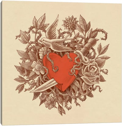 Heart Of Thorns Canvas Art Print