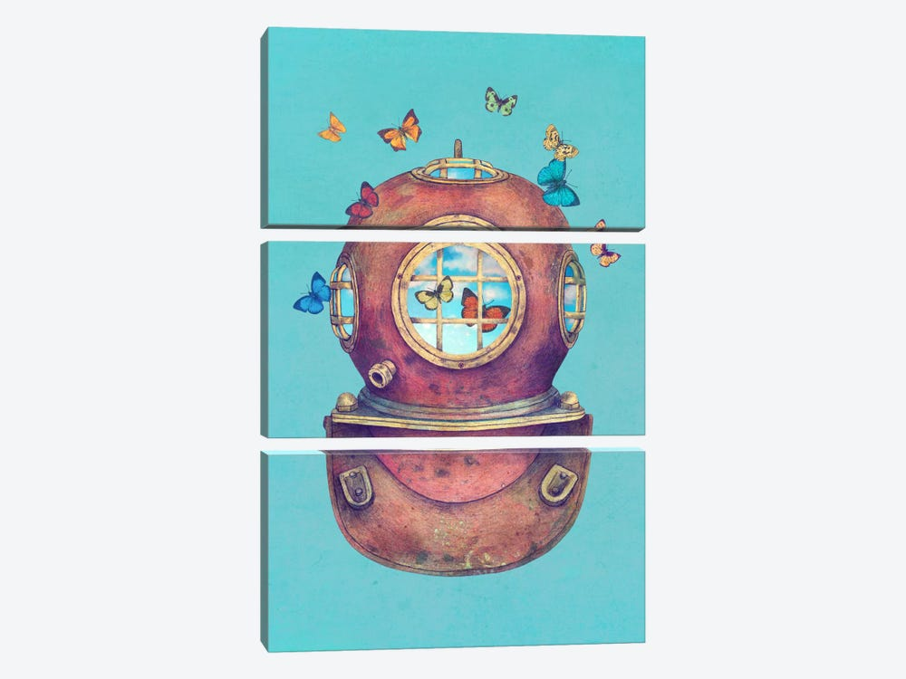 Inner Space by Terry Fan 3-piece Canvas Wall Art