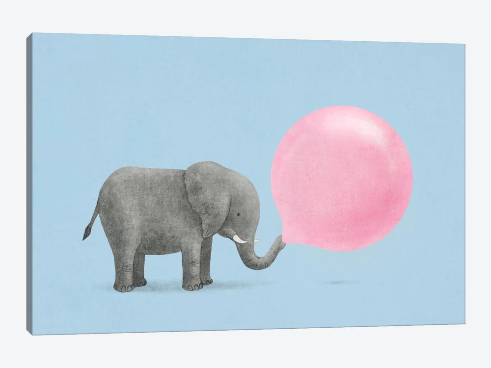 Jumbo Bubble Gum Blue by Terry Fan 1-piece Canvas Artwork