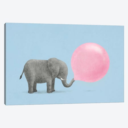 Jumbo Bubble Gum Blue Canvas Print #TFN112} by Terry Fan Canvas Print