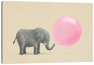 Jumbo Bubble Gum Canvas Art Print