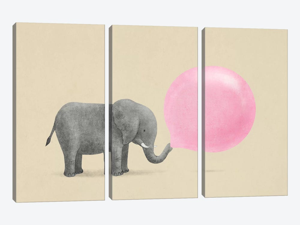 Jumbo Bubble Gum by Terry Fan 3-piece Art Print
