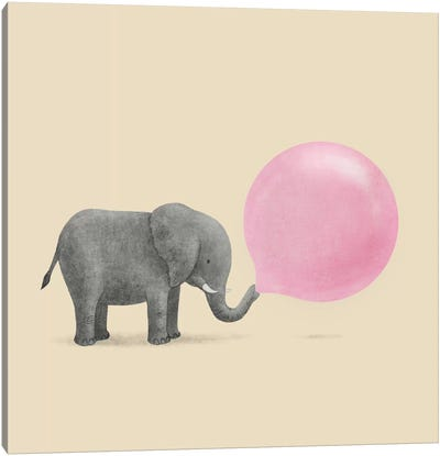 Jumbo Bubble Gum Square Canvas Art Print