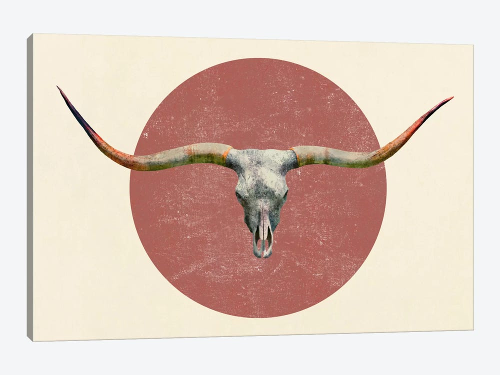 Longhorn by Terry Fan 1-piece Canvas Art