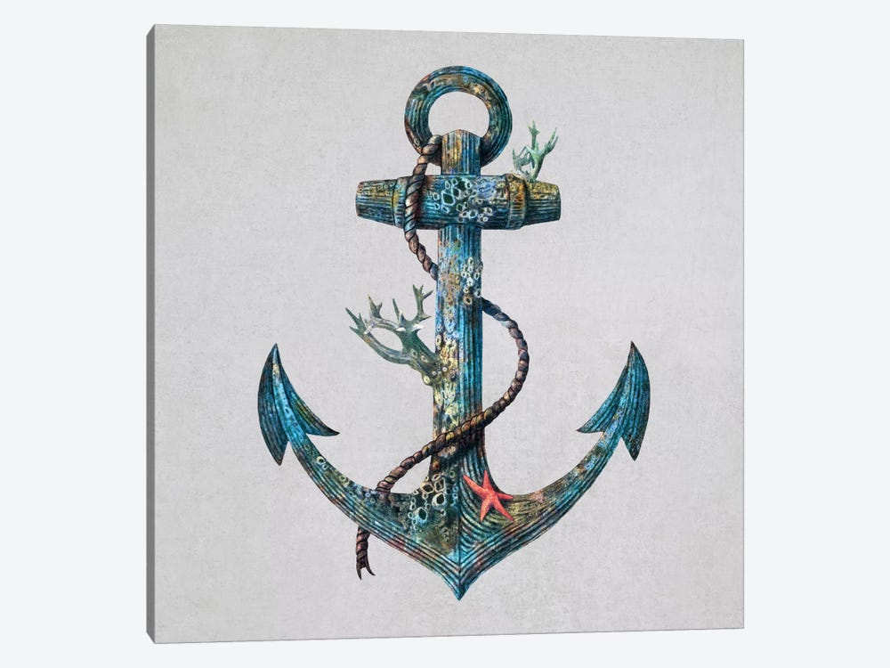 Lost at Sea Square #1 by Terry Fan 1-piece Canvas Art Print