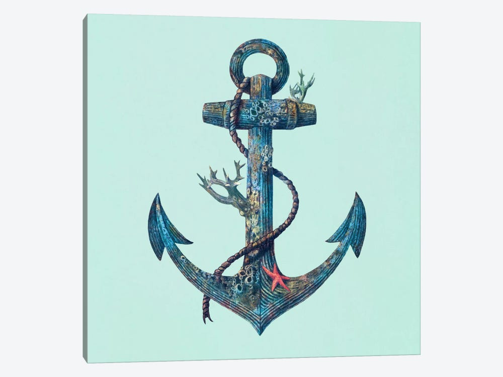 Lost at Sea Square #2 by Terry Fan 1-piece Canvas Art