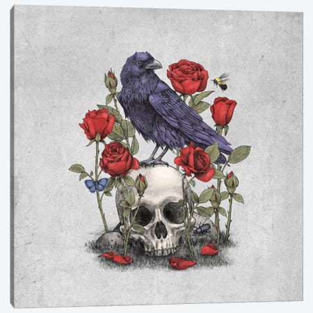 Memento Mori Square Canvas Print #TFN129} by Terry Fan Canvas Artwork