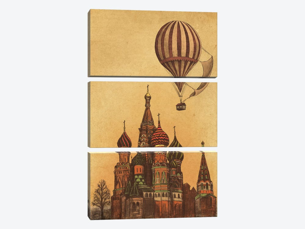 Moving To Moscow by Terry Fan 3-piece Canvas Art