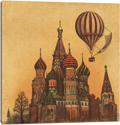 Moving To Moscow Square Canvas Art Print