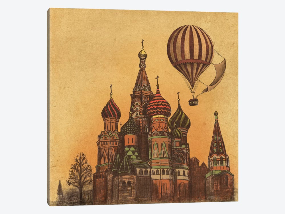 Moving To Moscow Square by Terry Fan 1-piece Canvas Print
