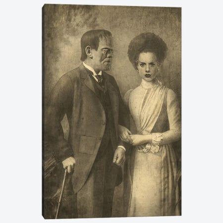 Mr. And Mrs. Frankenstein Canvas Print #TFN134} by Terry Fan Canvas Art
