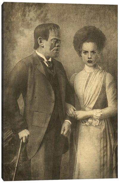 Mr. And Mrs. Frankenstein Canvas Print #TFN134