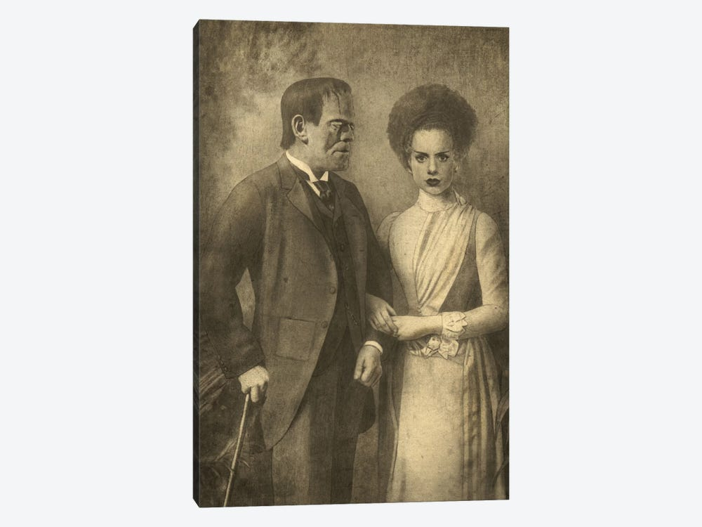 Mr. And Mrs. Frankenstein by Terry Fan 1-piece Canvas Wall Art