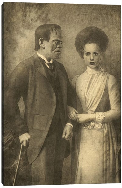 Mr. And Mrs. Frankenstein Canvas Art Print