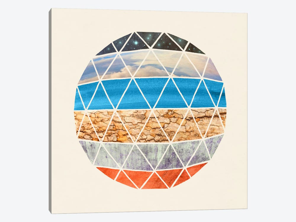 Natural Geodesic 1-piece Canvas Artwork