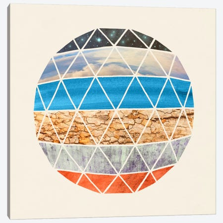 Natural Geodesic Canvas Print #TFN136} by Terry Fan Canvas Artwork