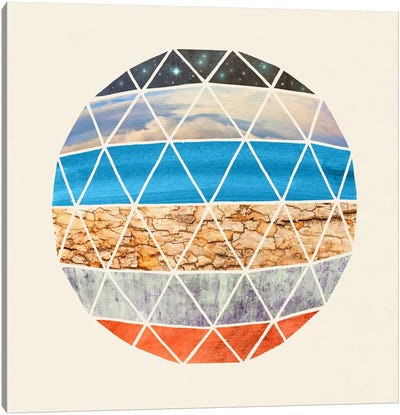 Natural Geodesic Canvas Art Print