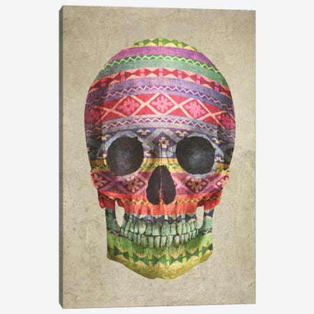 Navajo Skull Canvas Print #TFN137} by Terry Fan Canvas Artwork