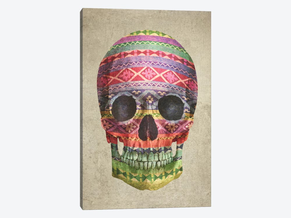 Navajo Skull by Terry Fan 1-piece Canvas Print