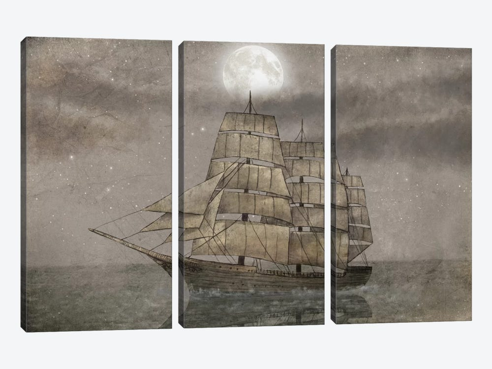 Night Journey by Terry Fan 3-piece Canvas Art Print