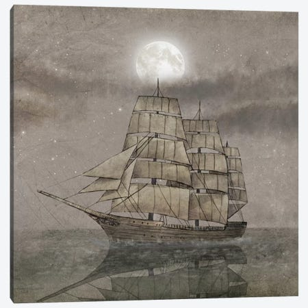 Night Journey Square Canvas Print #TFN140} by Terry Fan Canvas Art