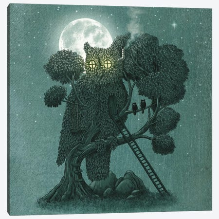 Nightwatch Square Canvas Print #TFN144} by Terry Fan Canvas Art Print