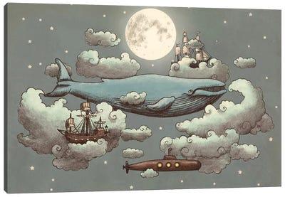 Ocean Meets Sky #1 Canvas Art Print