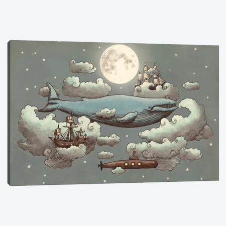 Ocean Meets Sky #1 Canvas Print #TFN145} by Terry Fan Canvas Art Print