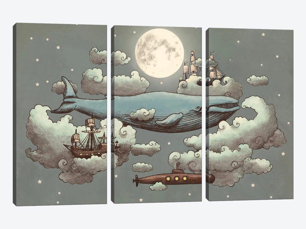 Ocean Meets Sky #1 by Terry Fan 3-piece Canvas Artwork