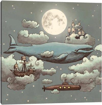 Ocean Meets Sky Square #1 Canvas Art Print