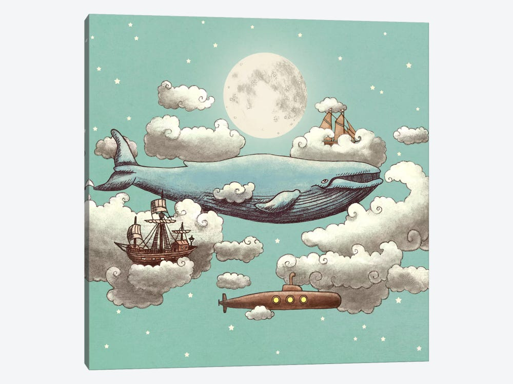 Ocean Meets Sky Square #2 by Terry Fan 1-piece Canvas Print
