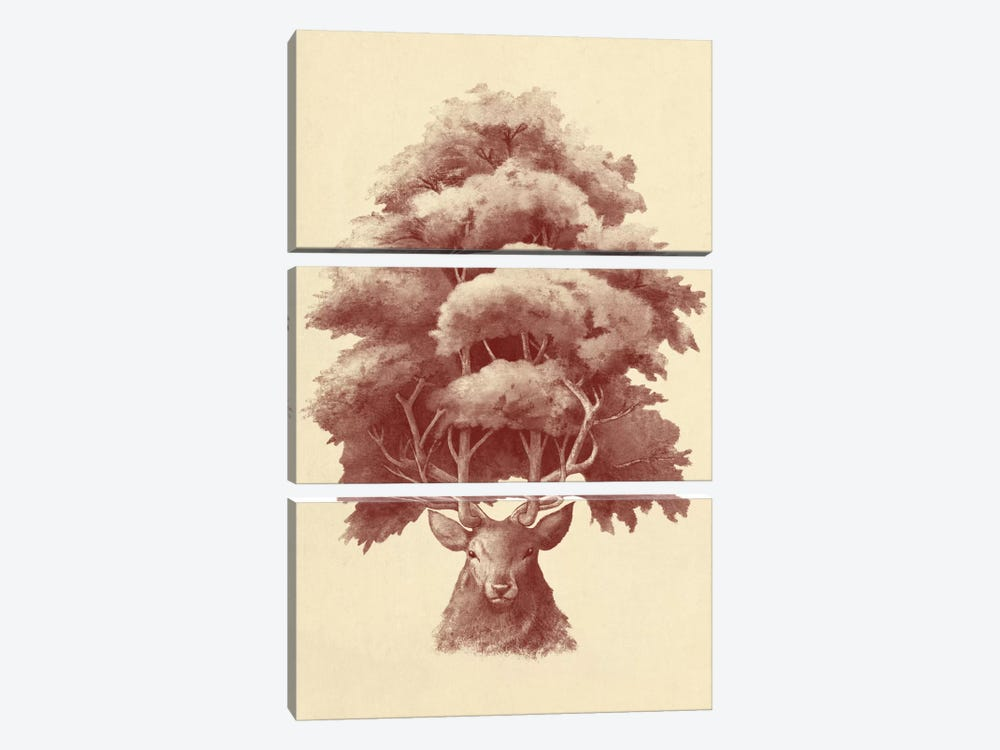 Old Growth by Terry Fan 3-piece Canvas Wall Art