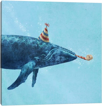 Party Whale Canvas Art Print