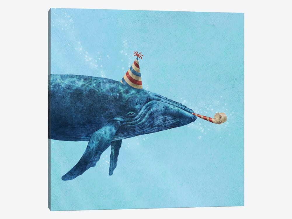 Party Whale by Terry Fan 1-piece Canvas Art