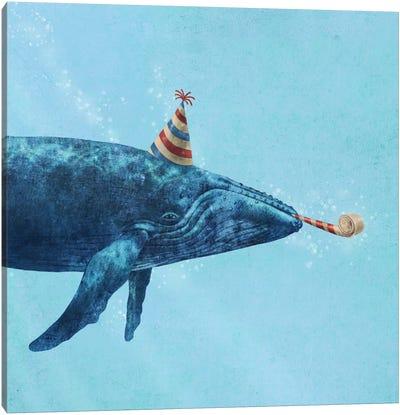 Party Whale Canvas Art Print
